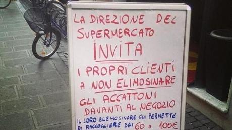 """Campania din Sicilia """"Nu daţi de pomană cerşetorilor sau ţiganilor"""" se extinde în toată Italia"""