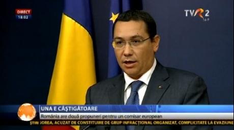 Ponta: Juncker va anunţa săptămâna viitoare decizia sa privind comisarii europeni. Eu cunosc decizia