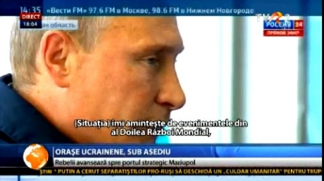 Rebelii, spre Mariupol. Putin: Partenerii Rusiei trebuie să înţeleagă că nu e bine să te pui cu noi