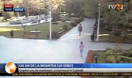 Baloane înălţate în memoria lui Ionuţ Anghel, băieţelul sfâşiat de maidanezi