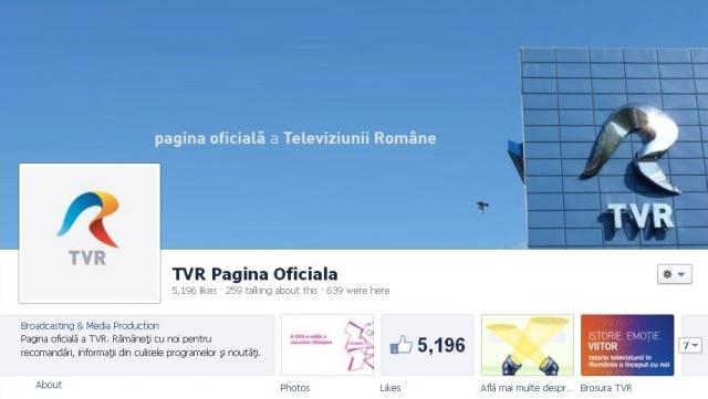 Pagina oficiala TVR Facebook