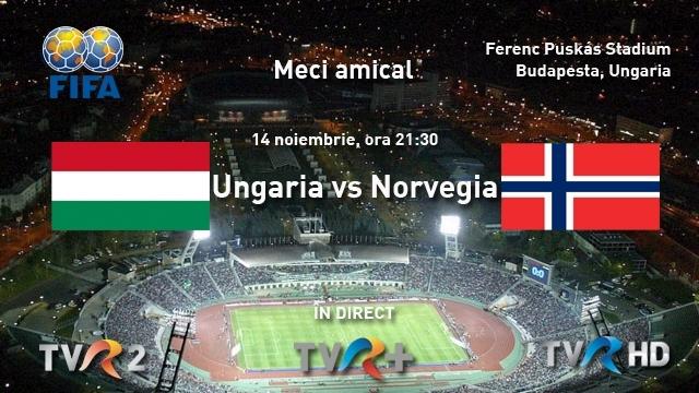 Miercuri, Ungaria şi Norvegia se întâlnesc în direct pe TVR 2, TVR ...