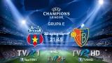 Scorul final FC Steaua Bucureşti - FC Basel: 1-1 (Tatu '88 / Diaz '48)