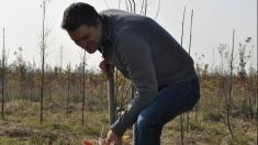 Andrei Bărbulescu a plantat copaci în jurul Ploieştiului