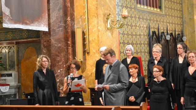 Ioana German și oficialitățile canadiene la Sf. Iosif