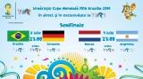 Semifinalele Cupei Mondiale FIFA Brazilia 2014, în direct la TVR