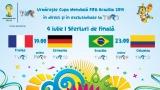 CM FIFA Brazilia 2014 în direct la TVR - programul transmisiunilor din 4 iulie