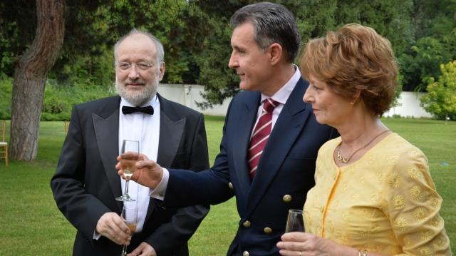 Stelian Tănase şi Alteţele Sale Regale Principesa Margareta şi Principele Radu