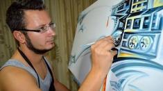 """Artistul care pictează ca un sculptor, luni la """"Lumea şi noi"""""""