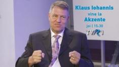 Klaus Iohannis, interviu în exclusivitate pentru emisiunea Akzente