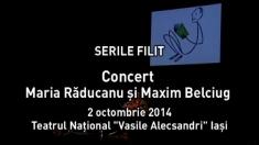 Maria Răducanu şi Maxim Belciug, invitaţi la FILIT 2014