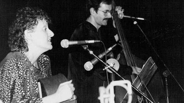 Erika Jozsa în turneu cu Carol în Australia, 1989