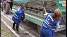 Curăţenia de primăvară pe străzile din Reșița
