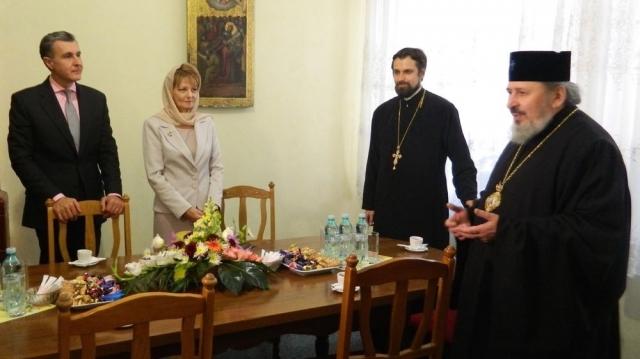 Princepesa Margareta şi Principele Radu la Mitropolia din Chişinău