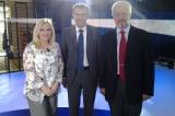Europarlamentarul german Daniel Caspary cu Ioan Stavre şi Monica Ghiurco