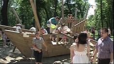 Distracţie în Parcul Copiilor din Timișoara