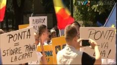 Proteste împotriva premierului în vestul țării