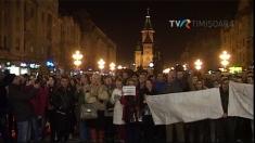 #Colectiv #CoruptiaUcide: peste 5000 de tineri în Piața Operei din Timișoara