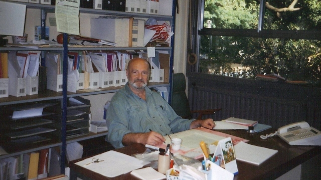 Mircea Udrescu la birou