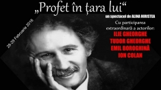 """""""Profet în ţara lui"""", un spectacol de poezie şi muzică pe texte de Marin Sorescu"""