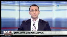 Știrile TVR, live pe Facebook