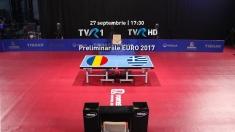 Live la TVR: încep meciurile de calificare la Europenele de tenis de masă
