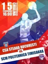 Steaua - Poli Timişoara, meci din etapa 19 a Ligii Naţionale de handbal masculin