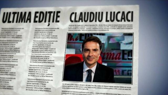 Claudiu Lucaci - ULTIMA EDITIE