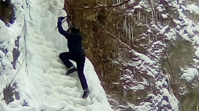 Exclusiv in Romania escalada pe gheata
