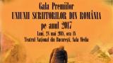 Gala Premiilor Uniunii Scriitorilor din România, la TVR 3