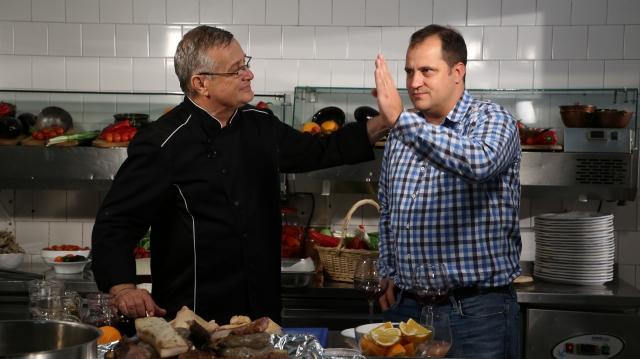 Mircea Dinescu si Serban Huidu