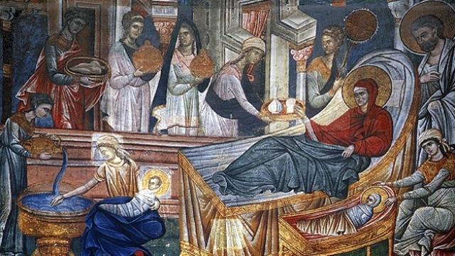Nasterea Maicii Domnului icoana la Univ Credintei