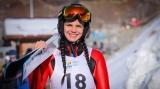 Dana Haralambie - saritoare cu schiurile