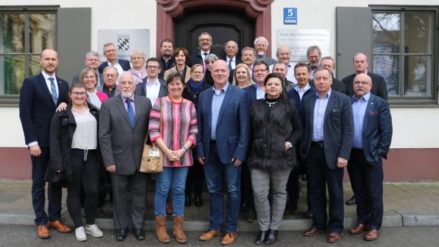 Conducerea Asociatiei Sasilor Trasnilvaneni din Germania la sedinta din München, martie 2020, Foto Siegbert Bruss