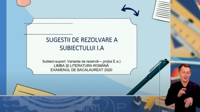 Romana XII telescoala 13 octombrie rezolvare subiect bac