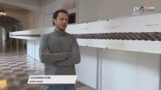 Instalație/pictură la Palatul Culturii din Iași | VIDEO