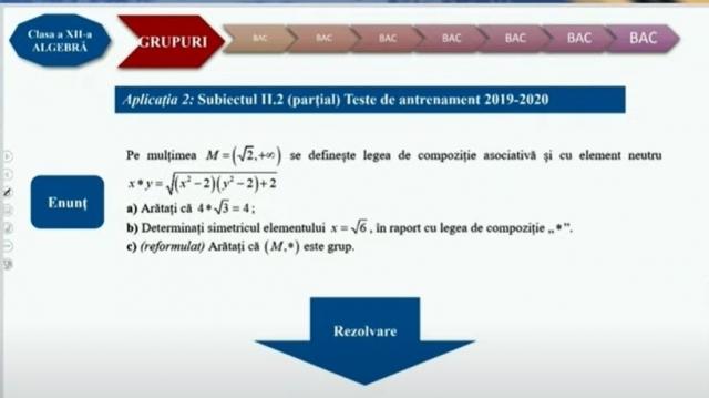 matematica XII 19 noiembrie grupuri