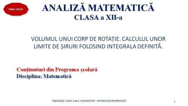 matematica XII 18 februarie