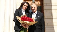 Gheorghe Zamfir a petrecut ziua de naștere alături de Iuliana Tudor și echipa TVR