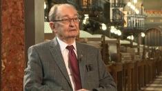 Academicianul Bogdan C. Simionescu, la