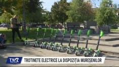 Trotinete electrice la dispoziția mureșenilor | VIDEO