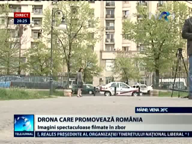 Drona care promoveaz Romnia. Atenie, imagini deosebit de spectaculoase!