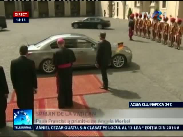 Cancelarul german Angela Merkel s-a ntlnit cu Papa Francisc la Vatican